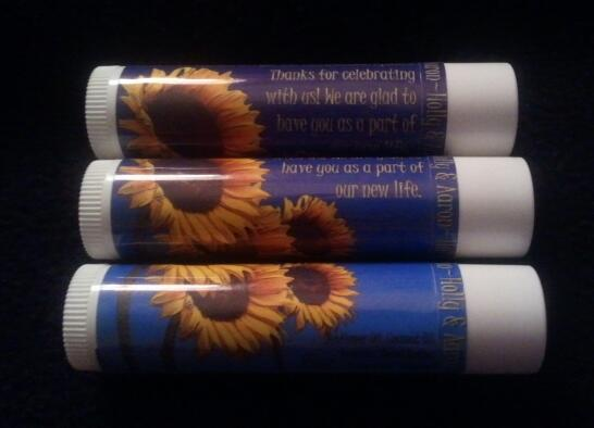 Picture of custom sunflower lipbalm
